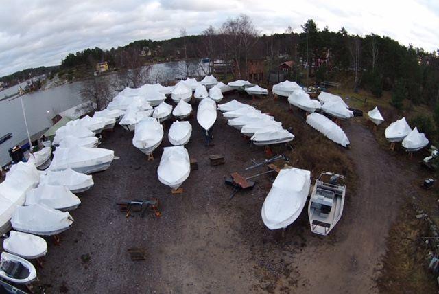 Vinterplats båt.