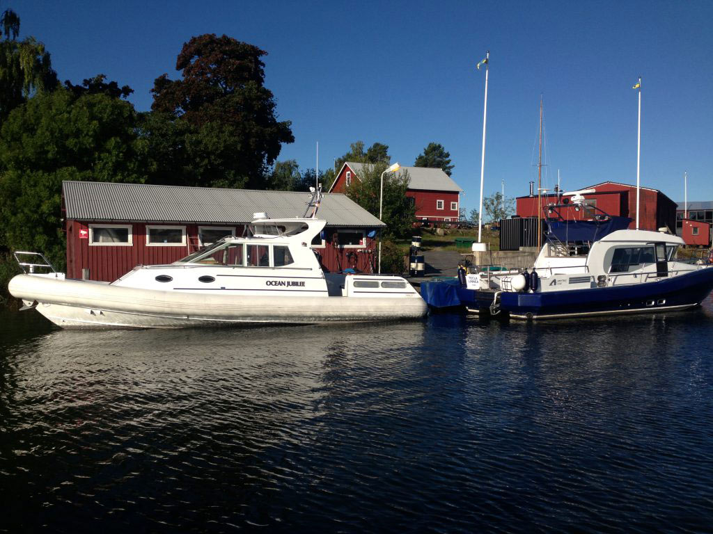 Vinterplats för båtar i Stockholmskärgård